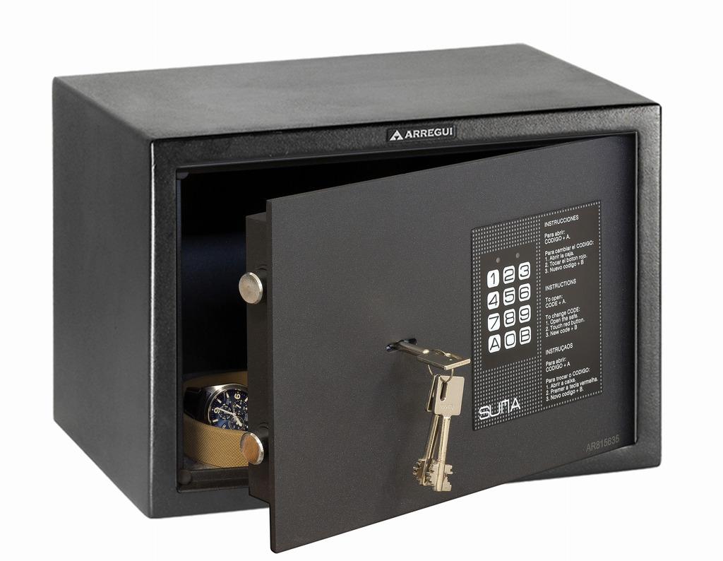 Arregui caja fuerte sobreponer suma 31020 electr nica y - Caja fuerte electronica ...